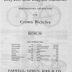 1929 Farwell Hardware Crown bicycles