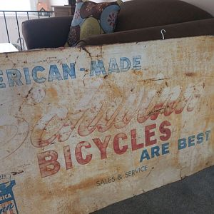 Old Schwinn Sales and Service Sign