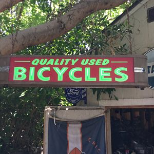 Used bicycle sign