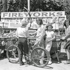 Fourth of July roadside stand near Milwaukee, Wisconsin, 1941