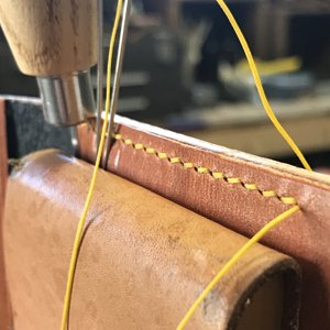 European Style Saddle Stitch