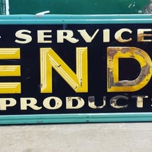 Early Embossed 6' BENDIX Sign