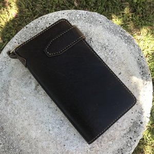 Long Wallet in Saddle and Turkish Calf
