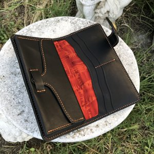 Long Wallet in Saddle & Calf