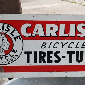 Carlisle Bicycle Tires and Tubes Sign