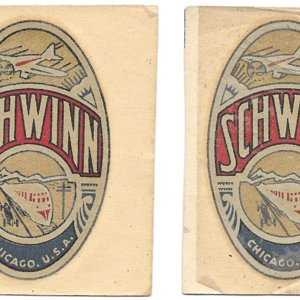 "Schwinn head badge decals from Patric 3 1/4"" tall.jpg"