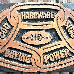 Our Own Hardware brass stamp