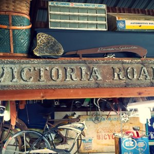 "WWII ""Victoria Road"" Sign"