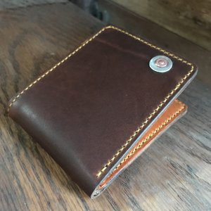 chromexcel & english bridle billfold wallet