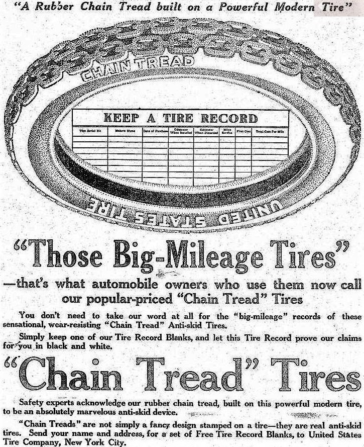 Chain Tread Tire ad Quincy Daily Journal July 16th 1915 page 2.JPG