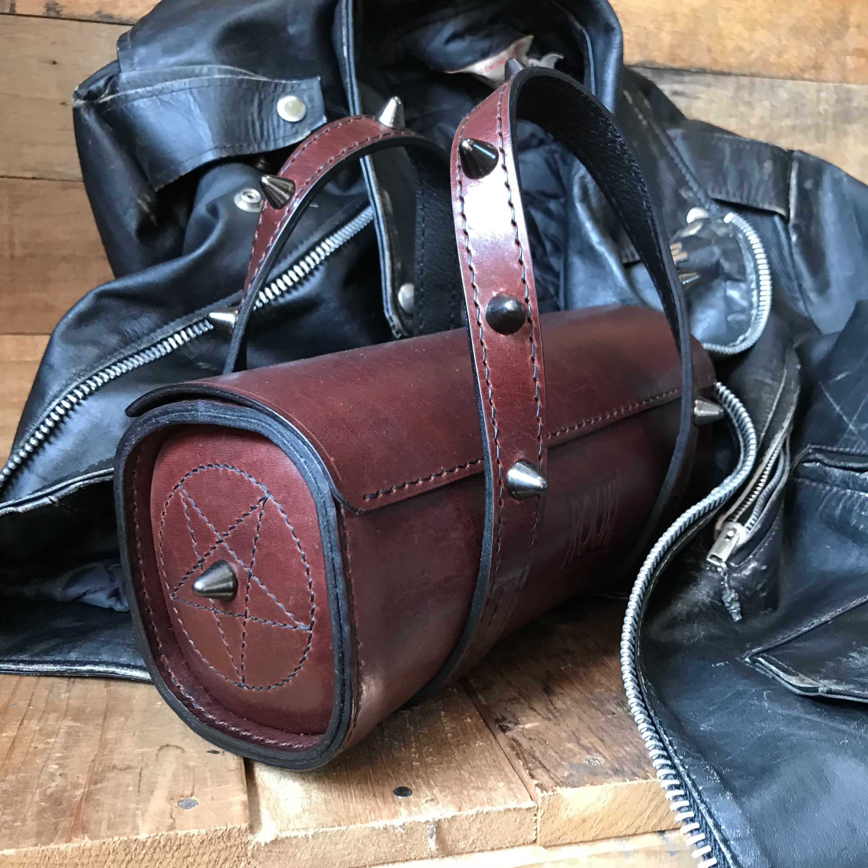 gothic latigo barrel bag