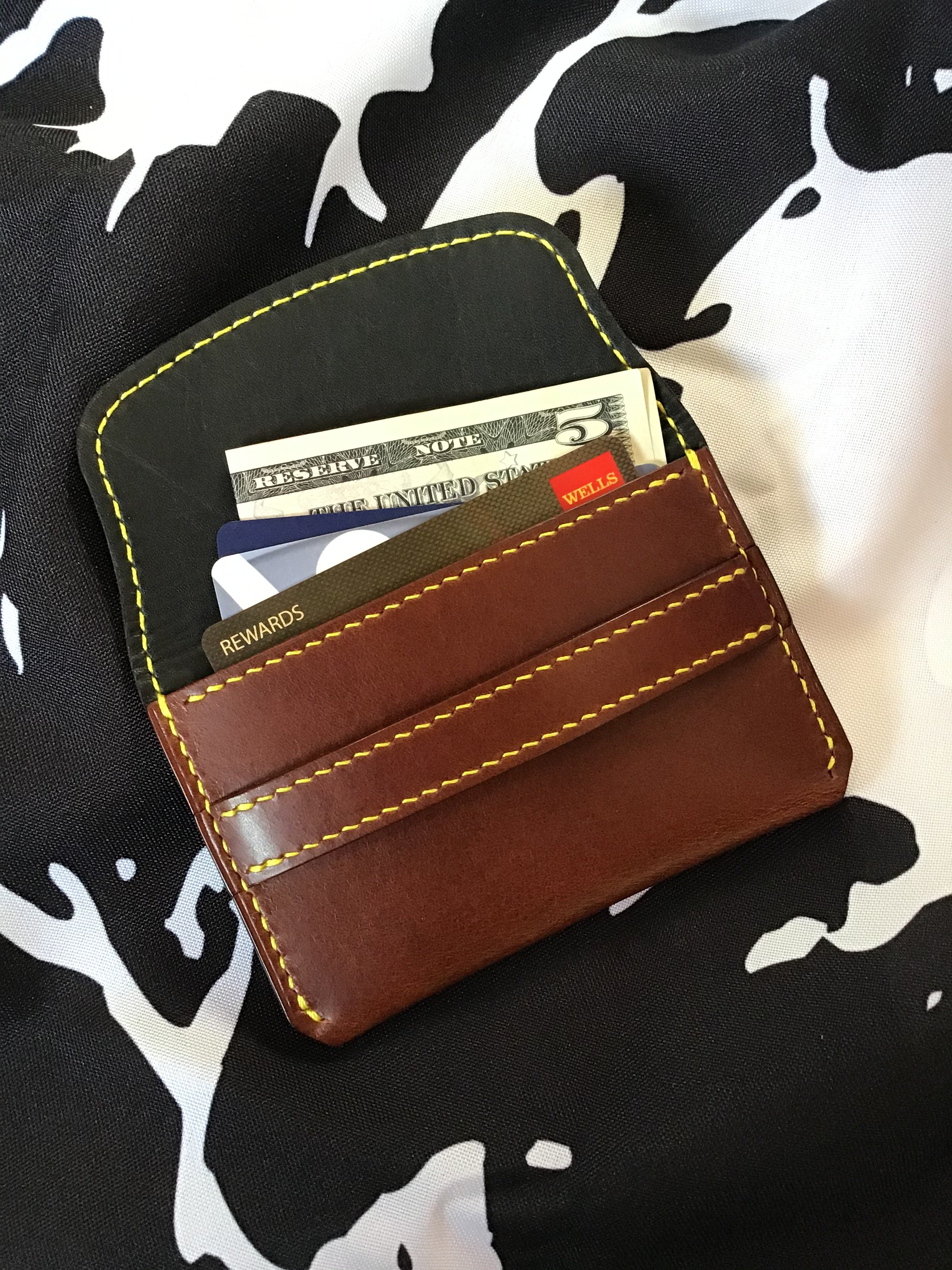 lined card wallet