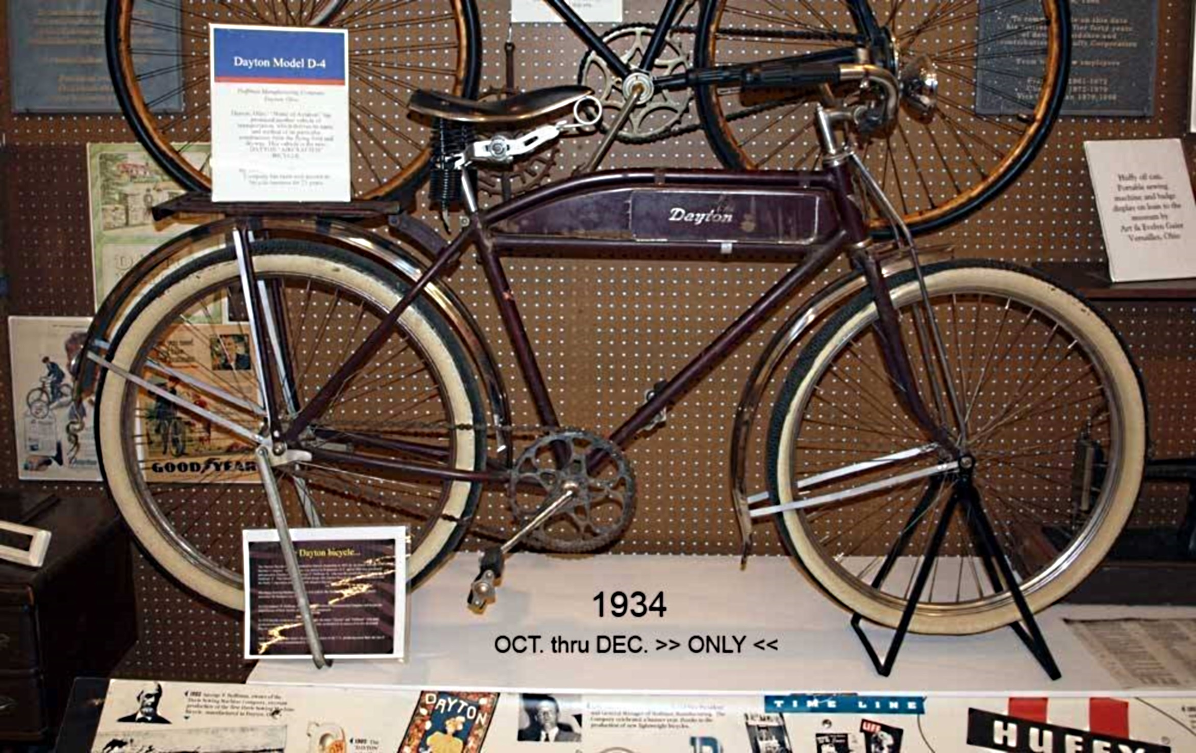 1934 Huffman (Dayton) Motorbike Model D-4 (Courtesy of Patric Cafaro-Bicycle Museum of America-BMA)