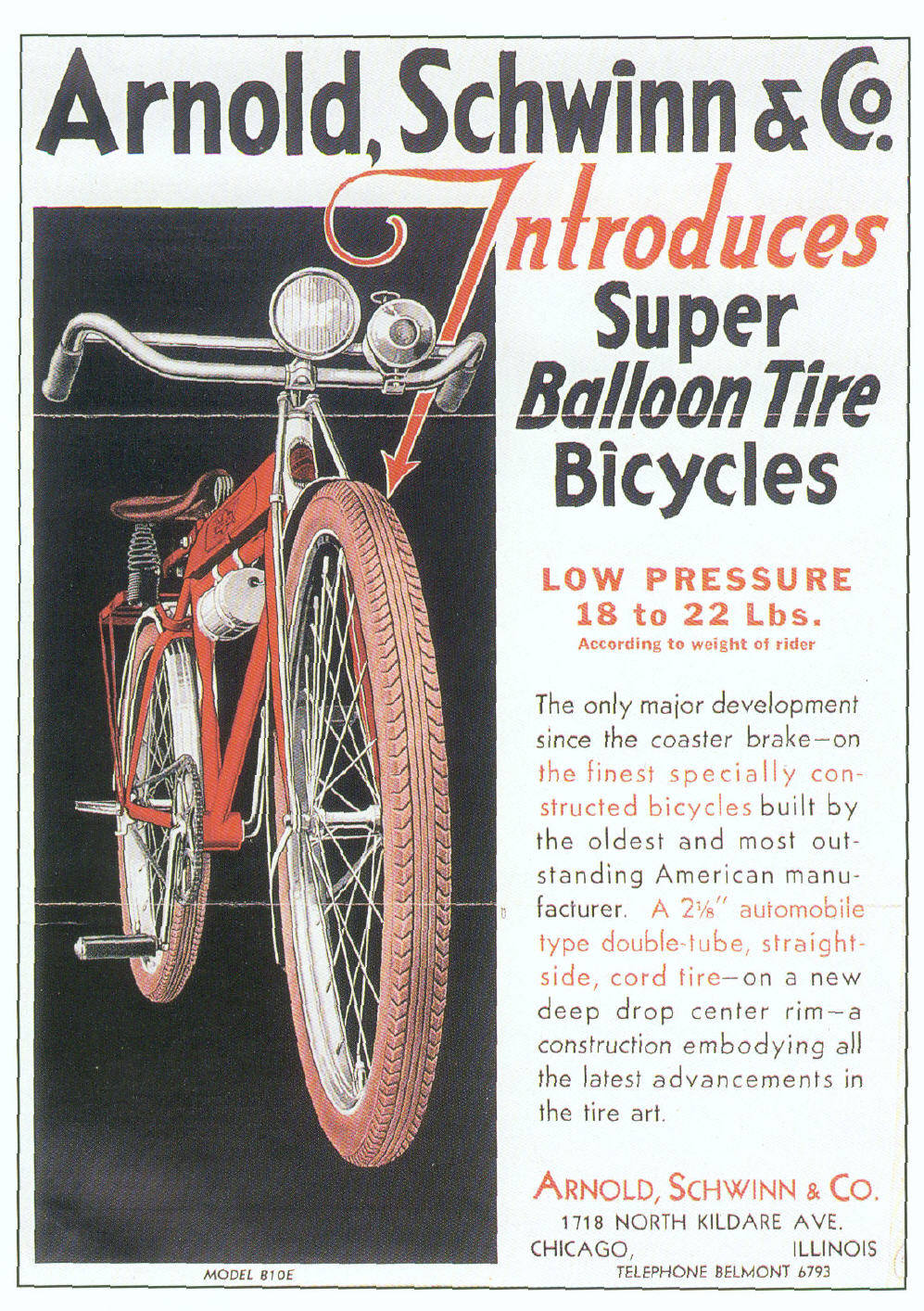 The First American Balloon Tire Bicycle